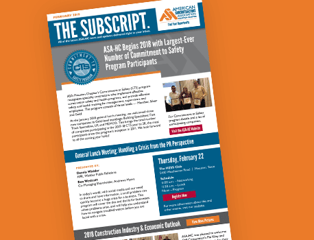 ASA Content Marketing - email newsletter