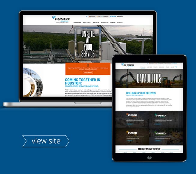 Fused Industries construction website