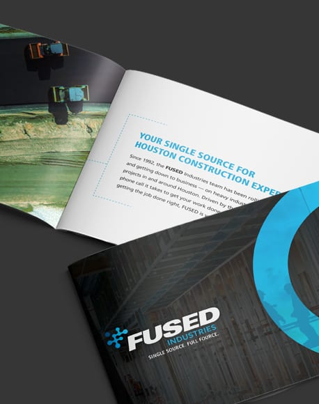 Fused Industries construction brochure