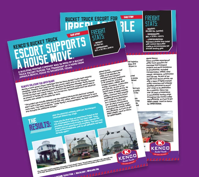 Kenco informative and creative content marketing flyers