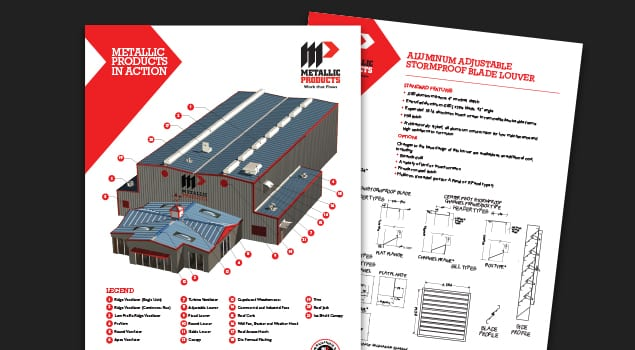 Metallic Products product catalog