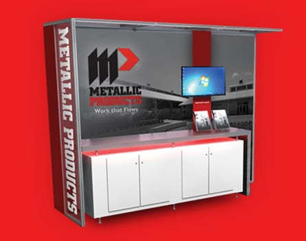 Metallic Products product booth