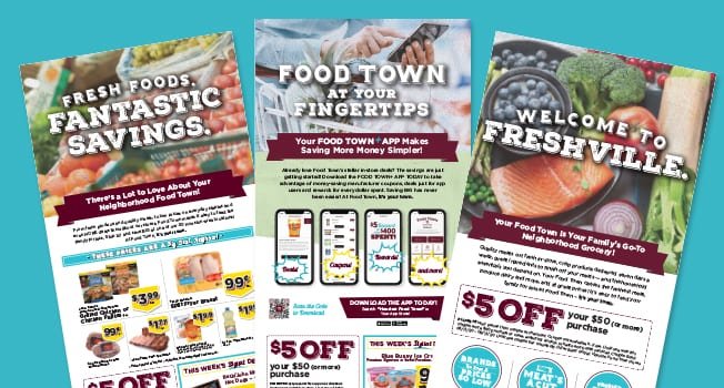 Food Town grocery store advertisements